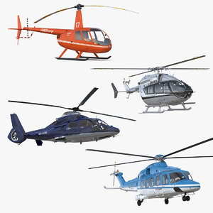 3D model private helicopters 3