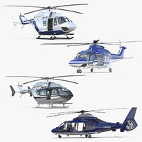 3D rigged private helicopters 3