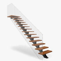 3D modern floating stair model