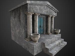3D model ready mausoleum