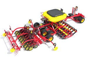 seed planter machine agricultural 3D model