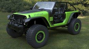 3D model jeep wrangler trailcat 2017