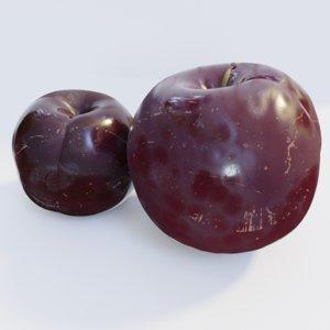 3D model realistic plums