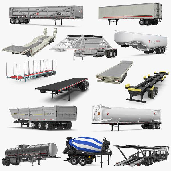 trailers 7 3D model