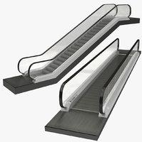 3D moving walkway escalator model