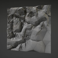 3D rock nature stone model