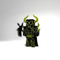 minecraft knight 3D model