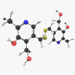 3D vitamin b6 pyritinol molecule