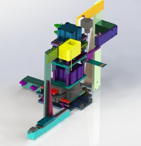 ccd stamping mechanism 3D model