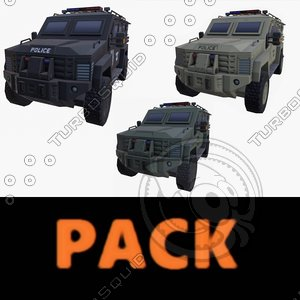 car armored pack model