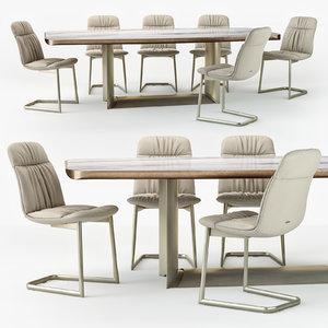 cattelan italia kelly chair 3D model