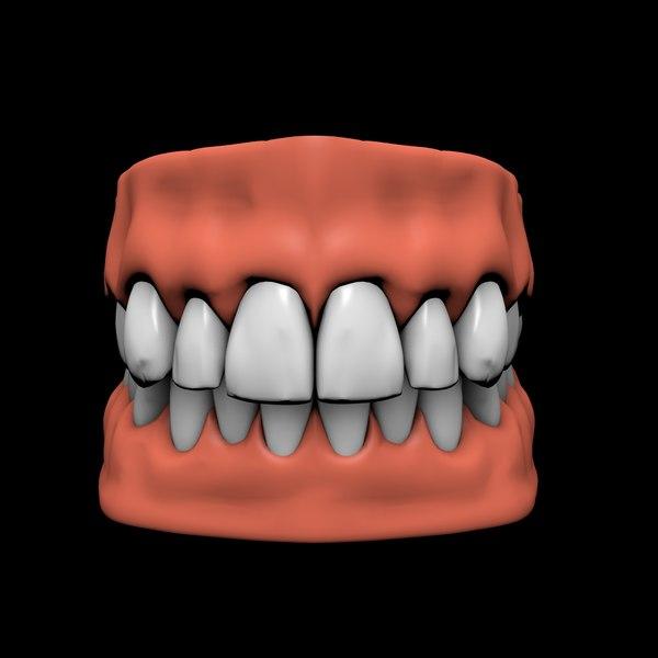 jaw teeth 3D model