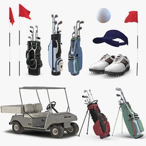 3D golf equipment 3