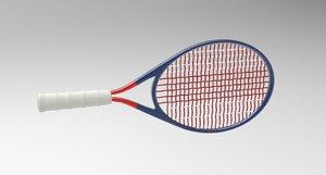 3D model tennis bat