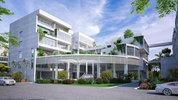 3D nursing institute building hospital