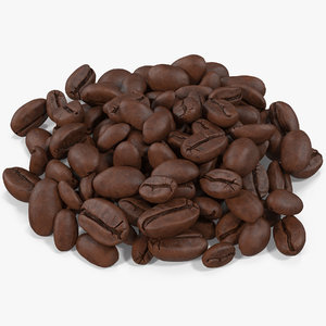 coffee beans roasted 3 3D model