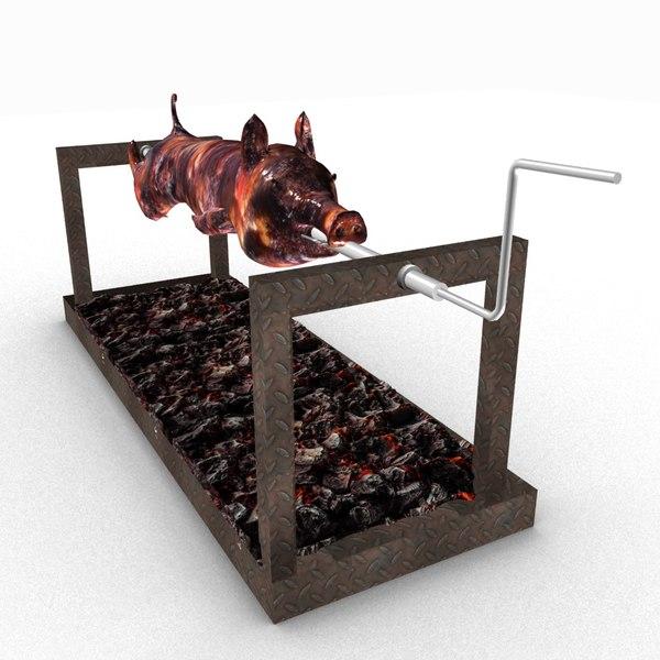 roasted pig 3D model