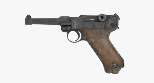 3D model german pistol luger p08