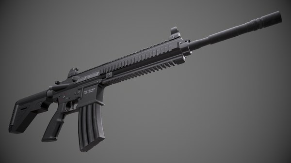 rifle m4 assault 3D model