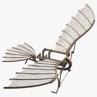 3D leonardo da vinci glider model