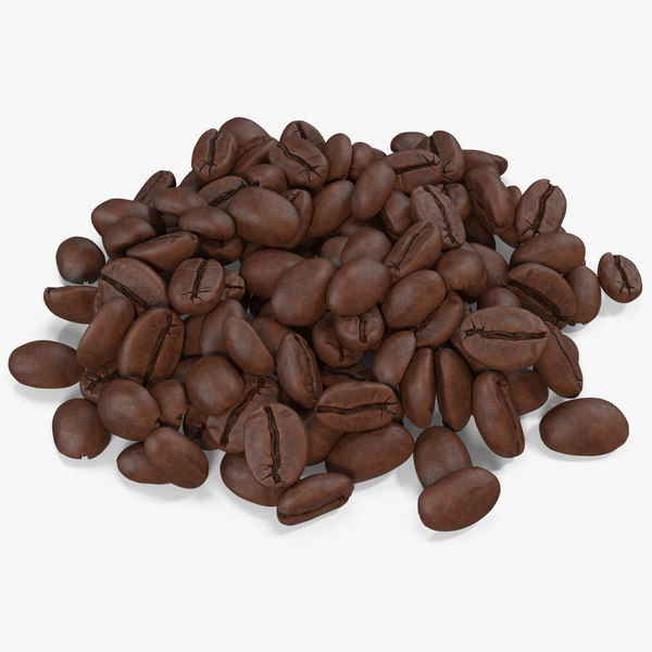 coffee beans roasted 4 3D