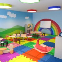 Nursery Classroom Low Poly 3D Model