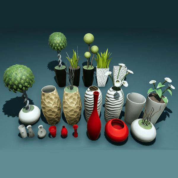 3D pots vase