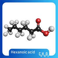 3D c6h12o2 caproic acid model