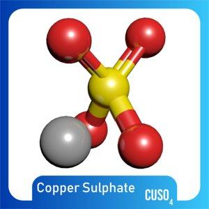 cuso4 copper sulphate 3D model