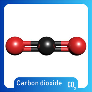 3D co2 carbon dioxide model