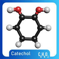 3D model c6h6o2 catechol