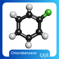 3D c6h5cl chlorobenzene model