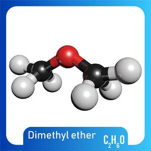 c2h6o dimethyl ether 3D