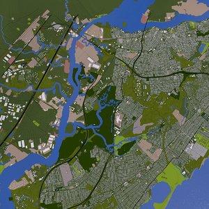 3D staten island model