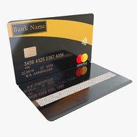 bank card 3D