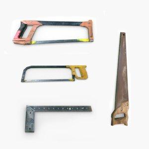 3D model hammer tools sledgehammer