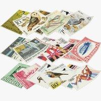 postage stamps v1 3D