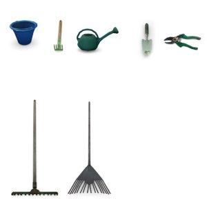 tools garden 3D model