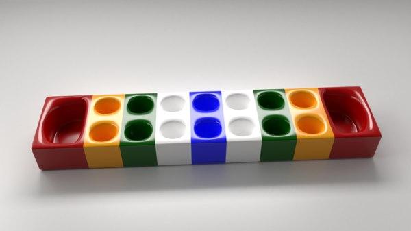 modern congkak games 3D model