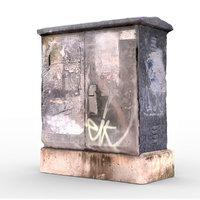 3D model electric box 3