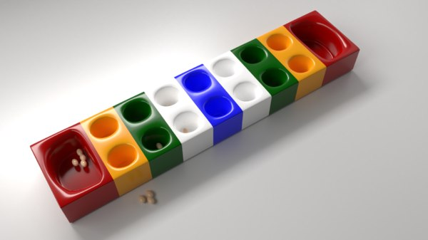 modern congkak marbles games 3D model
