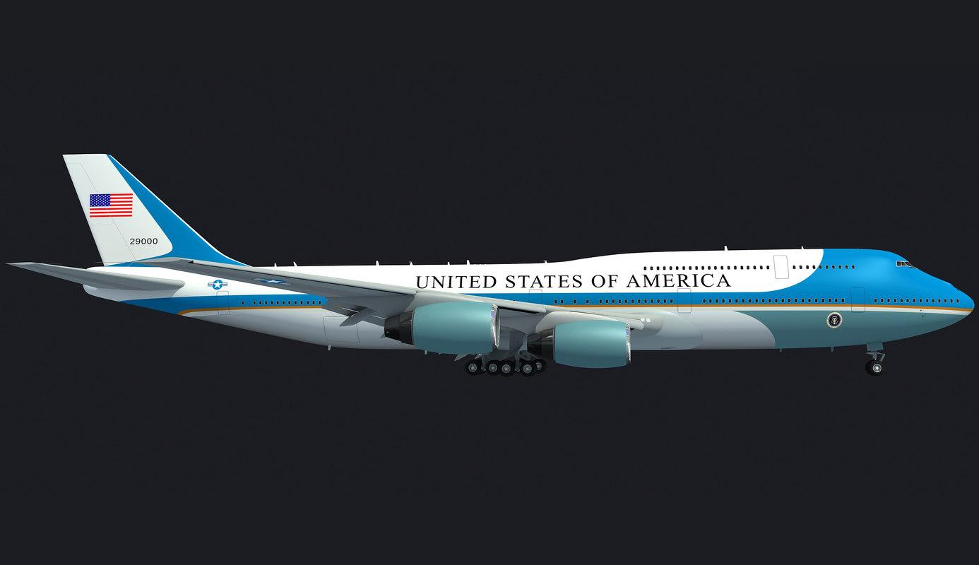 landing scene air force 3D model