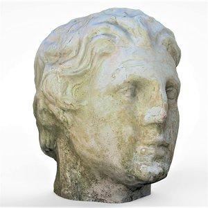 3D bust head model