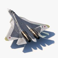 3D sukhoi su57 prototype 055