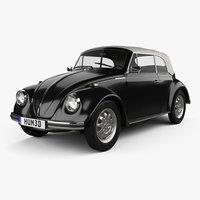 volkswagen beetle convertible 3D model