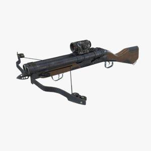 3D shotgun crossbow pbr model