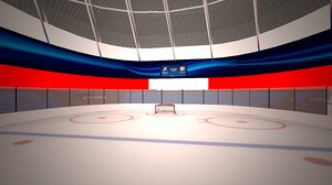 interior ice hockey arena 3D model