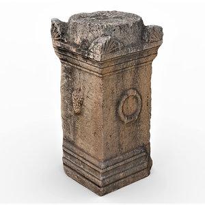 damaged column 2 3D