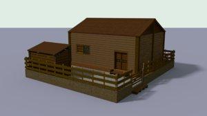 house hut 3D model
