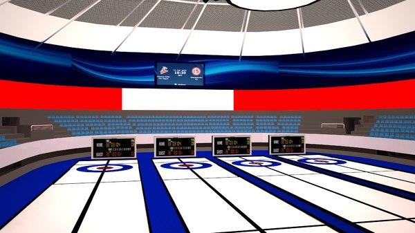 curling interior arena 3D model